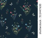 bouquets forest flowers pattern ... | Shutterstock .eps vector #511447630