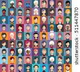 set of people icons in flat... | Shutterstock .eps vector #511447870