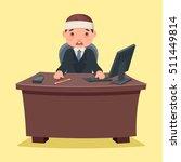 sick ill businessman character...   Shutterstock .eps vector #511449814