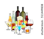 alcohol drinks and cocktails... | Shutterstock .eps vector #511449838