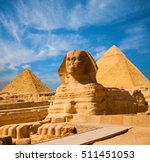 egyptian great sphinx full body ... | Shutterstock . vector #511451053