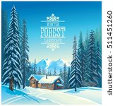 Winter Forest Landscape And Th...