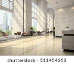 Stock photo interior of hotel reception d illustration 511454353
