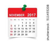 november 2017. calendar vector...   Shutterstock .eps vector #511455208