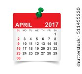 april 2017. calendar vector... | Shutterstock .eps vector #511455220
