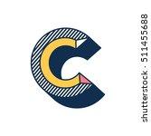 c letter abstract retro pop...   Shutterstock .eps vector #511455688