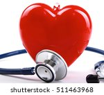 red heart and a stethoscope | Shutterstock . vector #511463968