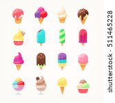 set of delicious ice cream... | Shutterstock .eps vector #511465228