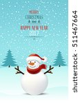 christmas snowman   Shutterstock .eps vector #511467664