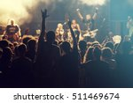 rock concert  cheering crowd in ... | Shutterstock . vector #511469674