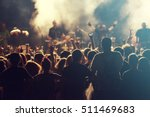rock concert  cheering crowd in ... | Shutterstock . vector #511469683