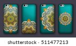 phone case mandala design set....   Shutterstock .eps vector #511477213