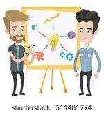 two caucasian businessmen... | Shutterstock .eps vector #511481794