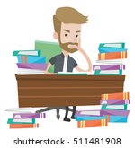 young angry student studying... | Shutterstock .eps vector #511481908