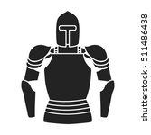 plate armor icon in black style ...   Shutterstock .eps vector #511486438