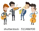 band of musicians playing on... | Shutterstock .eps vector #511486930