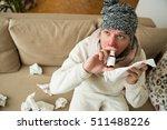Sick Man Catch Cold. Ill Perso...
