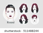 vector set beautiful women icon ... | Shutterstock .eps vector #511488244