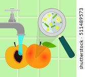 contaminated peach being... | Shutterstock .eps vector #511489573