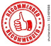 red recommended rubber stamp... | Shutterstock .eps vector #511489888