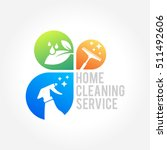 cleaning service business logo... | Shutterstock .eps vector #511492606