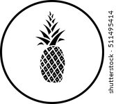 pineapple symbol | Shutterstock .eps vector #511495414