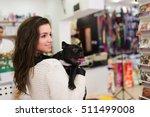 beautiful brunette woman with... | Shutterstock . vector #511499008