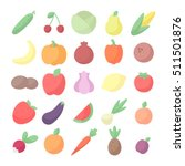 vegetables and fruits colored...   Shutterstock .eps vector #511501876
