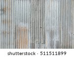 old metal sheet roof texture.... | Shutterstock . vector #511511899