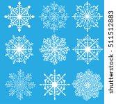 vector set of snowflakes | Shutterstock .eps vector #511512883