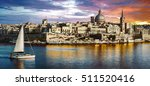 panoramic view of valetta over... | Shutterstock . vector #511520416
