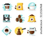 coffee icons  flat design | Shutterstock .eps vector #511526968