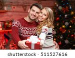 young man and woman holding a... | Shutterstock . vector #511527616