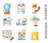 restaurant food ordering online ... | Shutterstock .eps vector #511528378