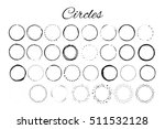 handdrawn elements with circles ...