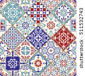 seamless vintage pattern with... | Shutterstock .eps vector #511532743