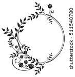 black and white round frame... | Shutterstock .eps vector #511540780