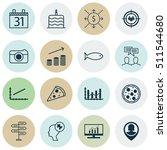 set of 16 universal editable... | Shutterstock .eps vector #511544680
