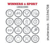 winners and sport icons. winner ... | Shutterstock .eps vector #511546708