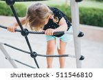 Cute Little Girl Toddler Havin...