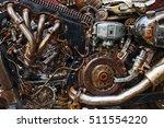 arrangement of old  rusty parts ... | Shutterstock . vector #511554220