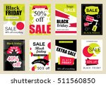 collection of sale banners... | Shutterstock .eps vector #511560850