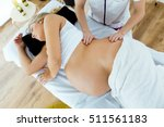 portrait of beautiful pregnant... | Shutterstock . vector #511561183