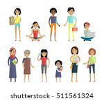 set of women of different ages... | Shutterstock . vector #511561324