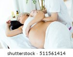 portrait of beautiful pregnant... | Shutterstock . vector #511561414