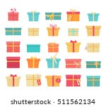 set of colorful gift boxes with ... | Shutterstock . vector #511562134