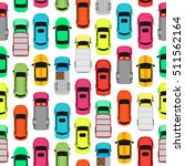 seamless pattern with cars on... | Shutterstock . vector #511562164