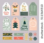 christmas gift tags and labels... | Shutterstock .eps vector #511564510