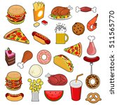 fast food big set. signs of... | Shutterstock .eps vector #511565770