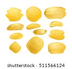 set of gold shining brush... | Shutterstock . vector #511566124